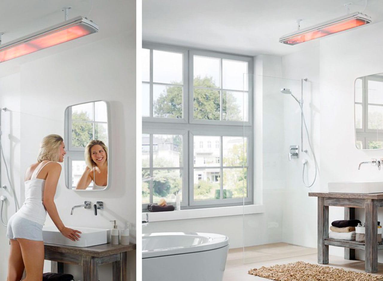 Chauffage salle de bain infrarouge  Chauffage Extérieur